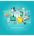 Online internet banking protection concept poster vector image
