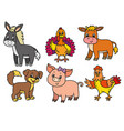 pets cartoon vector image