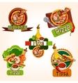 Pizza emblems set vector image vector image