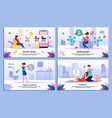 pregnant woman life situations banners set vector image vector image