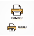 printer logo vector image