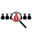 profit search icon vector image