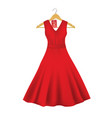 red dress on a hanger with sale tag vector image