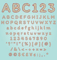 retro style comic font with latin alphabet for vector image
