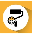 roller man worker construction design icon vector image vector image
