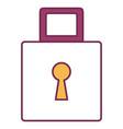 Safe padlock isolated icon