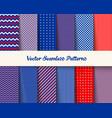 seamless american patriotic pattern vector image vector image