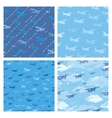 Seamless patterns with planes vector image vector image