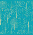 seamless trees background vector image