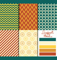 set of 5 simple seamless geometric patterns vector image