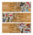 set of horizontal banners about italy vector image vector image