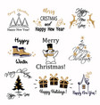 set of of stickers with the text of vector image vector image