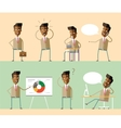 Set office characters African american managers vector image vector image
