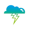 silhouette cloud with thunder natural weather sky vector image vector image