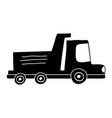 silhouette dump truck industry and contruccion vector image vector image