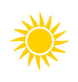 sun flat icon on white background vector image