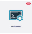 two color programming icon from concept isolated vector image vector image