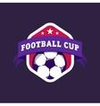 Vintage color football soccer championship logo - vector image vector image
