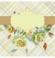 Vintage flower pattern floral template EPS 8 vector image vector image