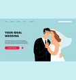 wedding planner landing page vector image