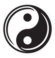 yin yang vector image vector image