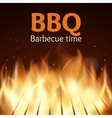Grille with fire BBQ poster vector image
