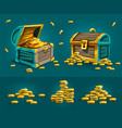 piratic trunks chests vector image