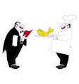 waiter cook professions set of isolated vector image