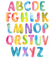 abc alphabet watercolor letters over white vector image vector image