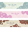 Abstract floral banner set design