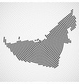 abstract map united arab emirates radial dots vector image