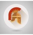 Ancient helmet flat logo vector image vector image