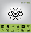 atom sign black icon at gray vector image vector image