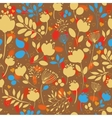 Autumn Flowers Fall Seamless Pattern vector image vector image