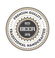 beer beverage vintage isolated label vector image