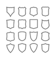 Big set of blank classic shields vector image vector image