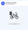 bike icon filled flat sign solid vector image vector image
