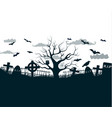 black and white halloween night background poster vector image vector image