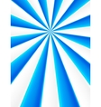 Blue and white abstract rays circle vector image vector image