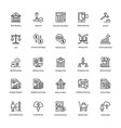 business and finance line icons 5 vector image
