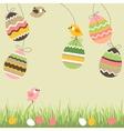 cartoon eggs and birds vector image