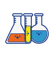 chemistry flask glass vector image vector image