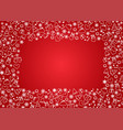 christmas seamless pattern on red background vector image vector image