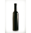 Classical wine bottle icon isolated on white vector image vector image