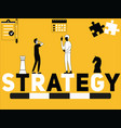 creative word concept strategy and people doing vector image vector image