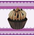 cupcake and a wallpaper vector image vector image