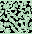 dollar bills pattern seamless background vector image