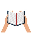 Education and book isolated flat icon vector image
