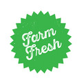 farm fresh stamp on white vector image vector image