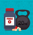 fitness and healthy icons vector image